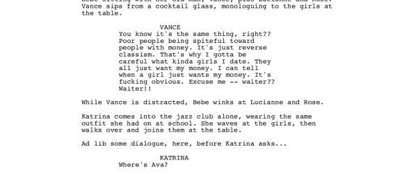screenplay previews!!